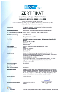 Zertifikat DIN EN 1090-1:2009