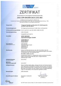 Zertifikat EN 1090-2:2009