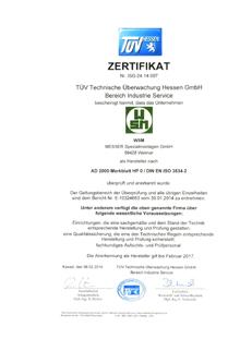 Zerifikat AD 2000 HP0