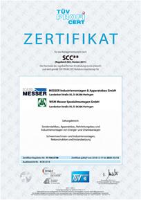 Zertifikat  SCC**:2011